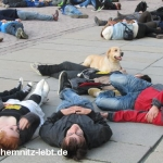 Fotos vom Fukushima Flashmob in Chemnitz