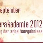 Ausstellung zur Sommerakademie 2012
