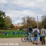 Blaue Schafe im Stadthallenpark