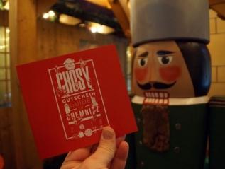Chosy Gutscheinbuch für Chemnitz 2018 als Weihnachtsgeschenk