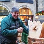 Was wird da gesägt auf dem Chemnitzer Weihnachtsmarkt?