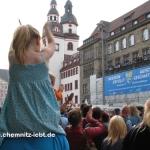 Aufstiegsfeier des CFC vor dem Rathaus