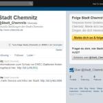 Stadt Chemnitz auf Twitter und Facebook
