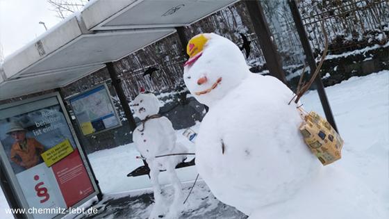 Chemnitz_Januar_Winter_Schneemann_01