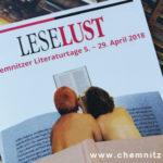Leselust – Chemnitzer Literaturtage 2018 – Ihr seid natürlich eingeladen!